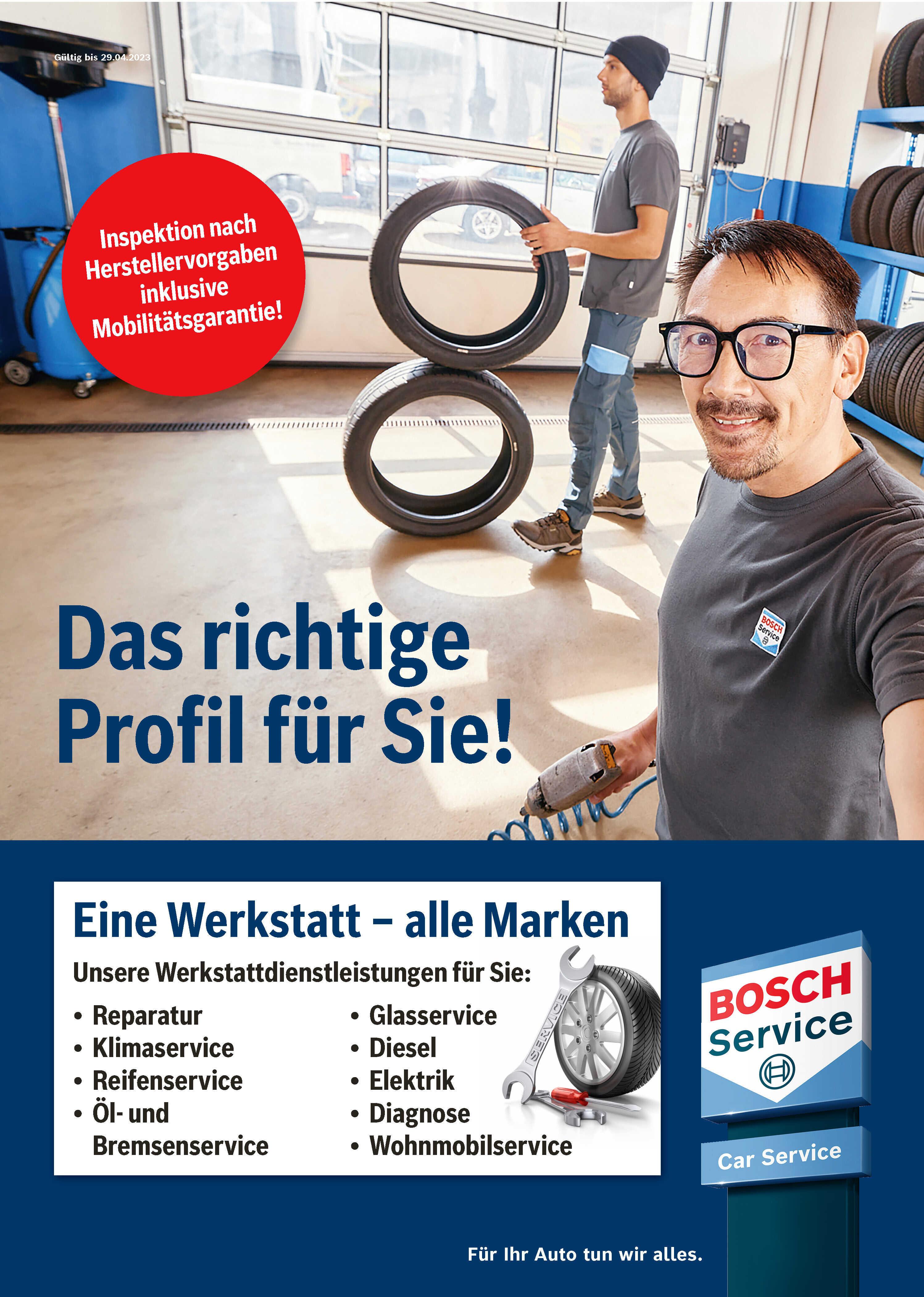 Aktueller Bosch Serivce Prospekt